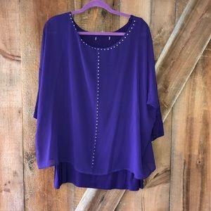 Cleo purple plus size top